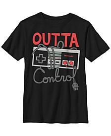 Nintendo Big Boy's Nes Controller Outta Control Short Sleeve T-Shirt