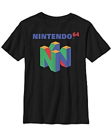Nintendo Big Boy's 64 Classic Logo Retro Short Sleeve T-Shirt