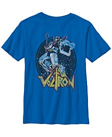 Voltron Big Boy's Retro Defender Colorful Fight Sword Short Sleeve T-Shirt