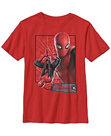 Marvel Big Boy's Spider-Man Far From Home New Suit Logo Poster Short Sleeve T-Shirt
