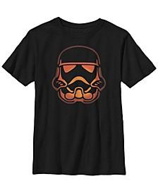 Star Wars Big Boy's Stormtrooper Pumpkin Carving Halloween Short Sleeve T-Shirt