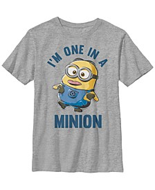 Despicable Me Big Boy's Minions Dave One In A Minion Short Sleeve T-Shirt