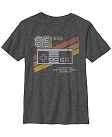 Nintendo Big Boy's Nes Controller Retro Stripe 85 Short Sleeve T-Shirt
