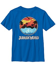 Jurassic World Two Big Boys Dawn of Time Land and Water Short Sleeve T-Shirt