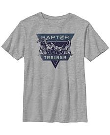 Jurassic World Two Big Boy's Raptor Trainer Short Sleeve T-Shirt