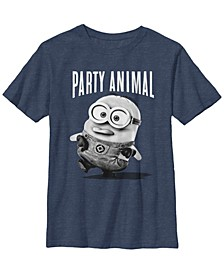 Despicable Me Big Boy's Party Animal Short Sleeve T-Shirt