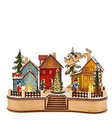 7.08-Inch Battery-Operated Village Musical LED House with Motion