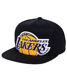 Los Angeles Lakers Hardwood Classic Cropped Snapback Cap