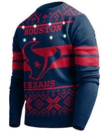 Men's Houston Texans Two Stripe Big Logo Lightup Sweater