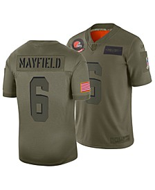 Men's Baker Mayfield Cleveland Browns Salute To Service Jersey 2019