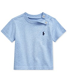 Baby Boys Cotton Jersey Crewneck T-Shirt