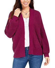 Chunky Cable-Knit Open-Front Cardigan, Created for Macy's