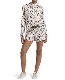 Kendall + Kylie Dalmatian Notched Collar Boxer Set, Online Only