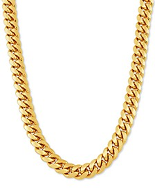 "Cuban Link 26"" Chain Necklace in 18k Gold-Plated Sterling Silver"