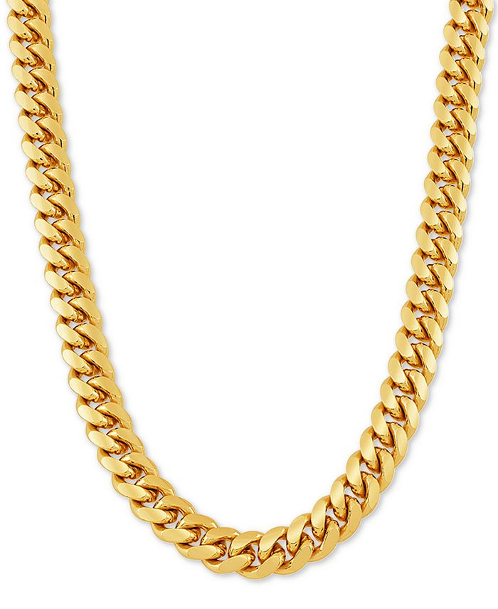 """Macy's - Cuban Link 26"""" Chain Necklace in 18k Gold-Plated Sterling Silver"""