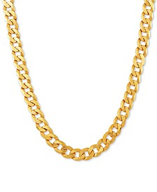 "Curb Link 26"" Chain Necklace in 18k Gold-Plated Sterling Silver"