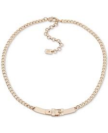"Buckle Collar Necklace, 16"" + 3"" extender"