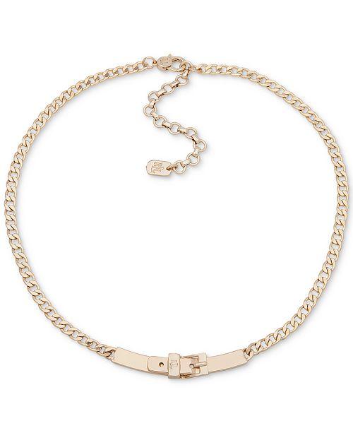 """Lauren Ralph Lauren Buckle Collar Necklace, 16"""" + 3"""" extender"""