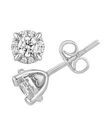 Certified Diamond 5/8 ct. t.w. Stud Earrings in 14k White Gold