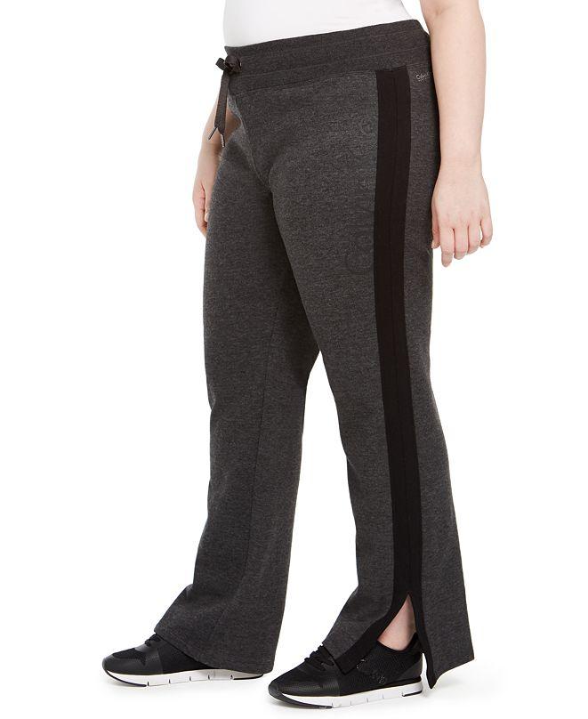 Calvin Klein Plus Size Logo Print Sweatpants
