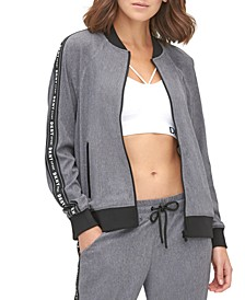 Sport Perforated Bomber Jacket
