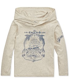 Toddler Boys Cotton Jersey Hooded T-Shirt