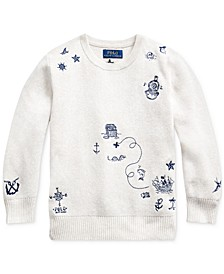 Toddler Boys Embroidered Cotton Sweater