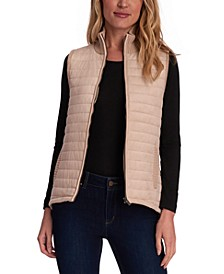 Quilted Faux-Suede Sweater Vest
