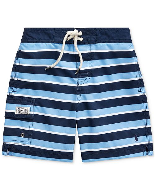 Polo Ralph Lauren Toddler Boys Kailua Striped Swim Trunks