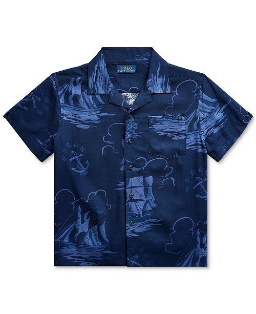 Polo Ralph Lauren Toddler Boys Sailboat-Print Shirt