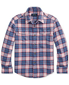 Toddler Boys Plaid Cotton Twill Workshirt