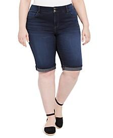 Plus Size Denim Bermuda Shorts, Created for Macy's