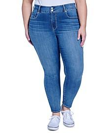 Trendy Plus Size Tummyless Skinny Jeans