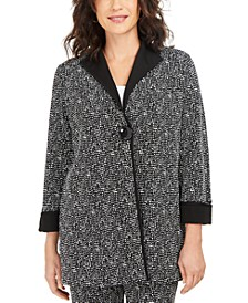 Long Printed Jacquard Jacket, Created for Macy's