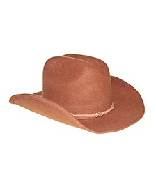 Wool Felt Cowboy Hat With Suede Trim