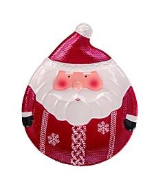 Dolomite Red Christmas Santa Plate