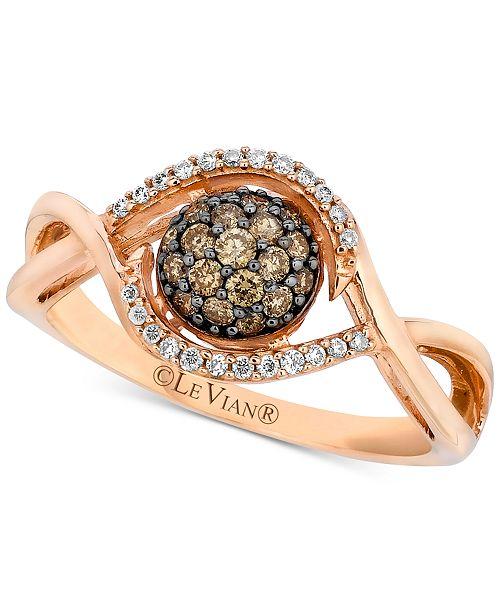 Le Vian Petite Diamond Cluster Ring (1/3 ct. t.w.) in 14k Rose Gold