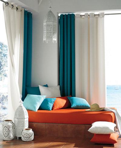 CLOSEOUT! Softline Sunbrella Indoor/Outdoor Window Treatment ...