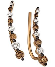 Diamond Ear Climbers (1/2 ct. t.w.) in 14k Rose Gold