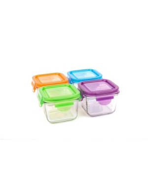 Wean Green Snack Cube 4 Pack - 7 Oz./210 ml Food Storage