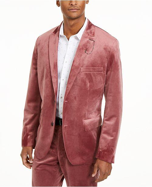INC International Concepts INC Men's Big & Tall Velvet Blazer, Created For Macy's
