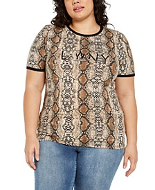 Trendy Plus Size Python Statement T-Shirt