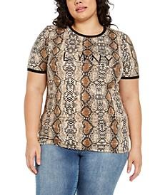 Trendy Plus Size Python Statement T-Shirt