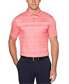 Men's Herringbone-Stripe Golf Polo