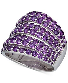 Amethyst Multi-Row Statement Ring (22 ct. t.w.) in Sterling Silver (Also in Rhodolite Garnet & London Blue Topaz)