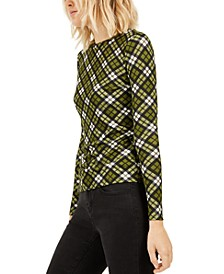 Petite Plaid Long-Sleeve Top