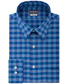 Men's Fit Flex Collar Check Dress Shirt