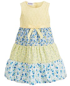 Toddler Girls Layered Floral Dress