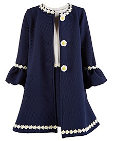 Toddler Girls 2-Pc. Sunflower Coat & Dress Set