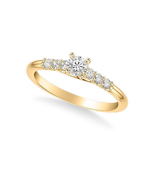 Macy's Diamond Engagement Ring (3/8 ct. t.w.) in 14k Yellow, White or Rose Gold